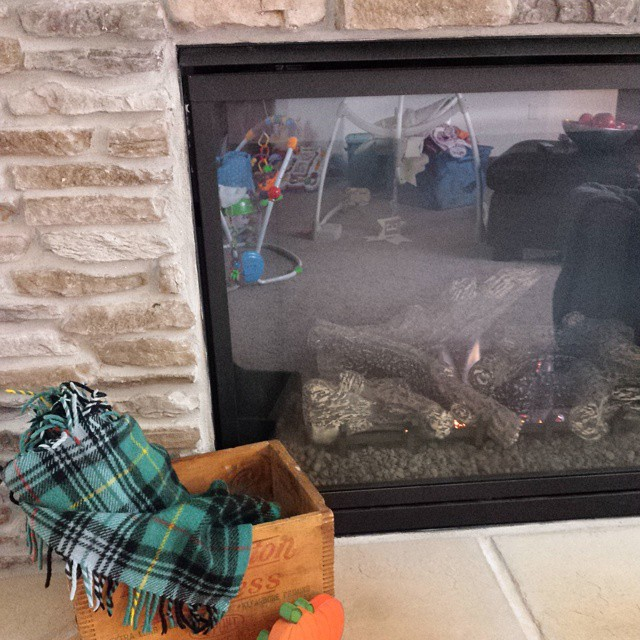 That time I was taking beautifully styled pictures of my mantle and realized the kid mess is visible in the fireplace refection.... #fail #bloggerproblems #fall #mantle #doireallyhavetoclean