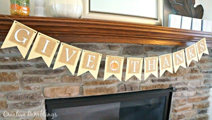 Give Thanks banner from Original Greetings on #Etsy
