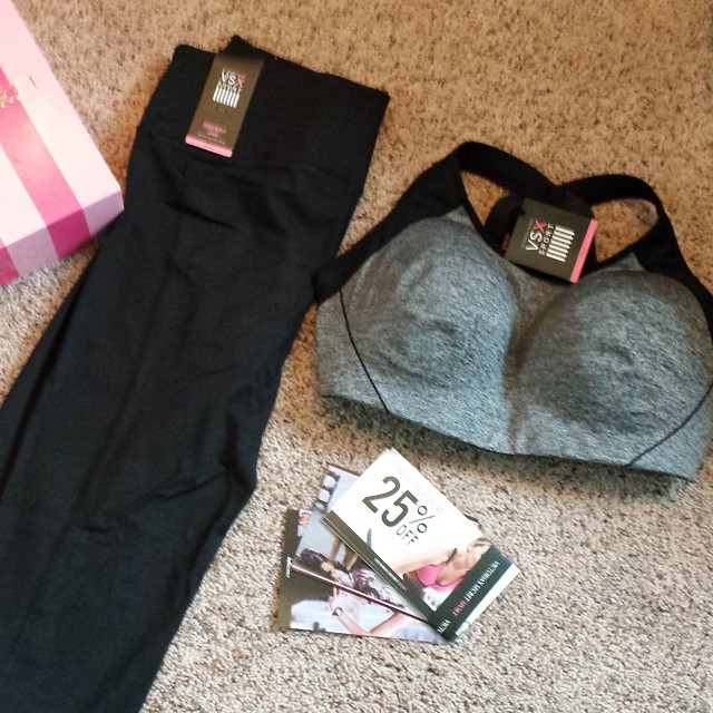 It's here its here! Just the motivation I need to get my #workout on. This baby weight isn't going to come off by itself. Thanks @influenster! I received these products complimentary for testing purposes. #vssportbra #vssporttester