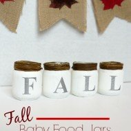Fall Baby Food Jars