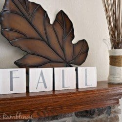 Fall wood blocks in white and silver