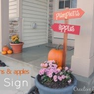 Pumpkins and Apples Front Porch Sign