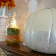 White and Silver Glam Fall Mantle