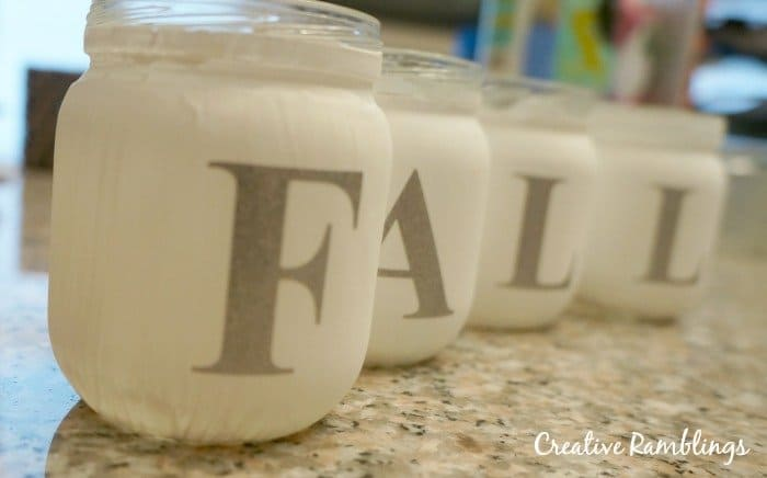 painted baby food jars