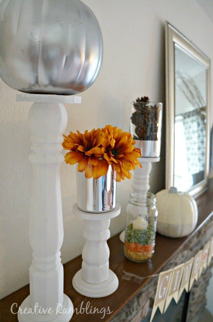 White and silver #fall #mantle