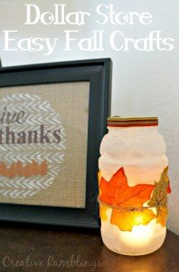 Dollar Tree Easy Fall Crafts