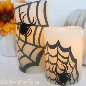 Halloween Spider Candles Pottery Barn Knock Off
