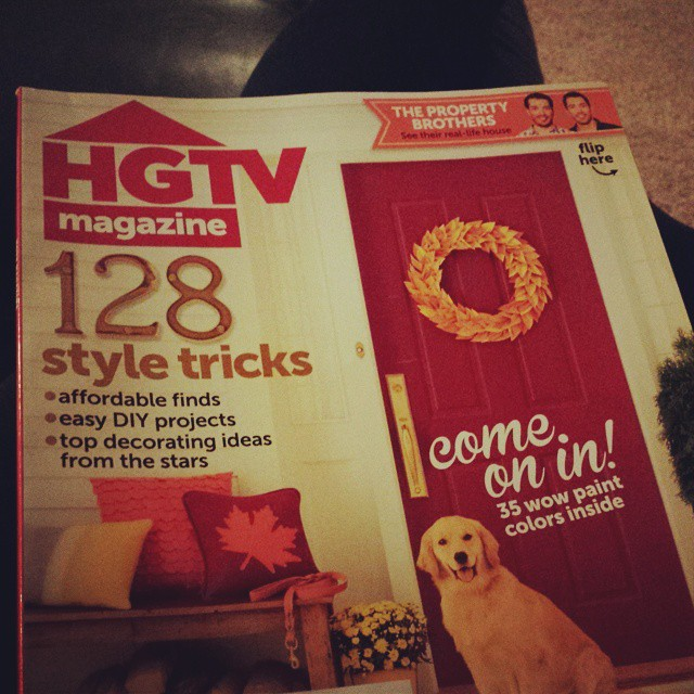 Relaxing with this tonight. @hgtv #magazine #nightreading