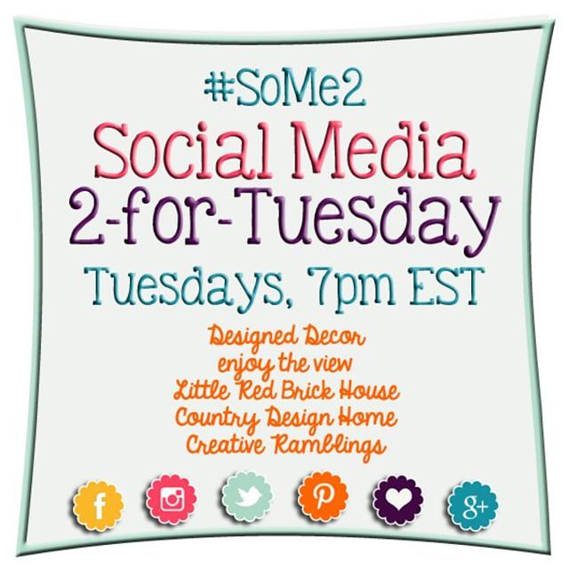 BIG news! I'm one of the new co-hosts of the #SoMe2 party. We're linking up facebook tonight. #linkinprofile @_enjoytheview_ @designeddecor @littleredbrickhouse