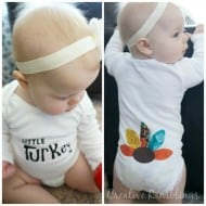Little Turkey No Sew Thanksgiving Onesie