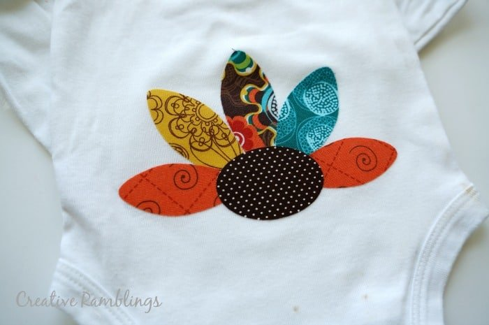turkey onesie using a #Silhouette