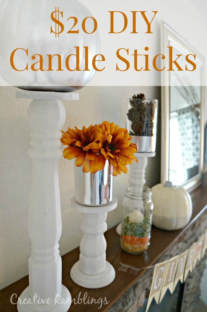 $20 DIY candle sticks