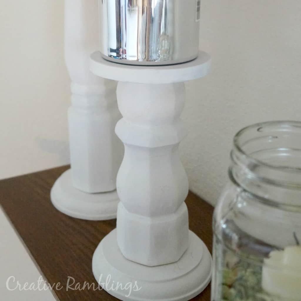 DIY wood candle stick