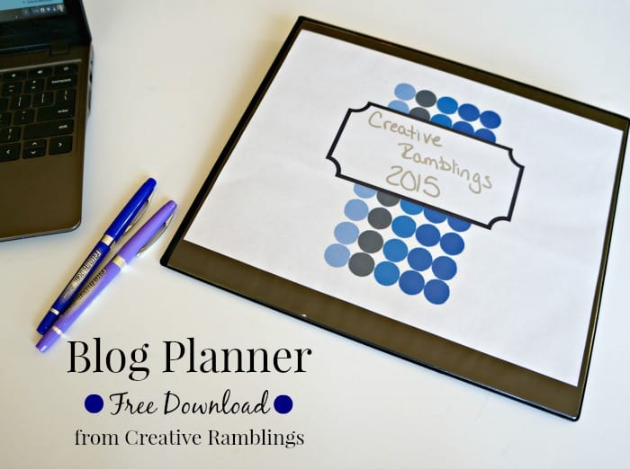 2015 Blog Planner Free Download #planner #blogging