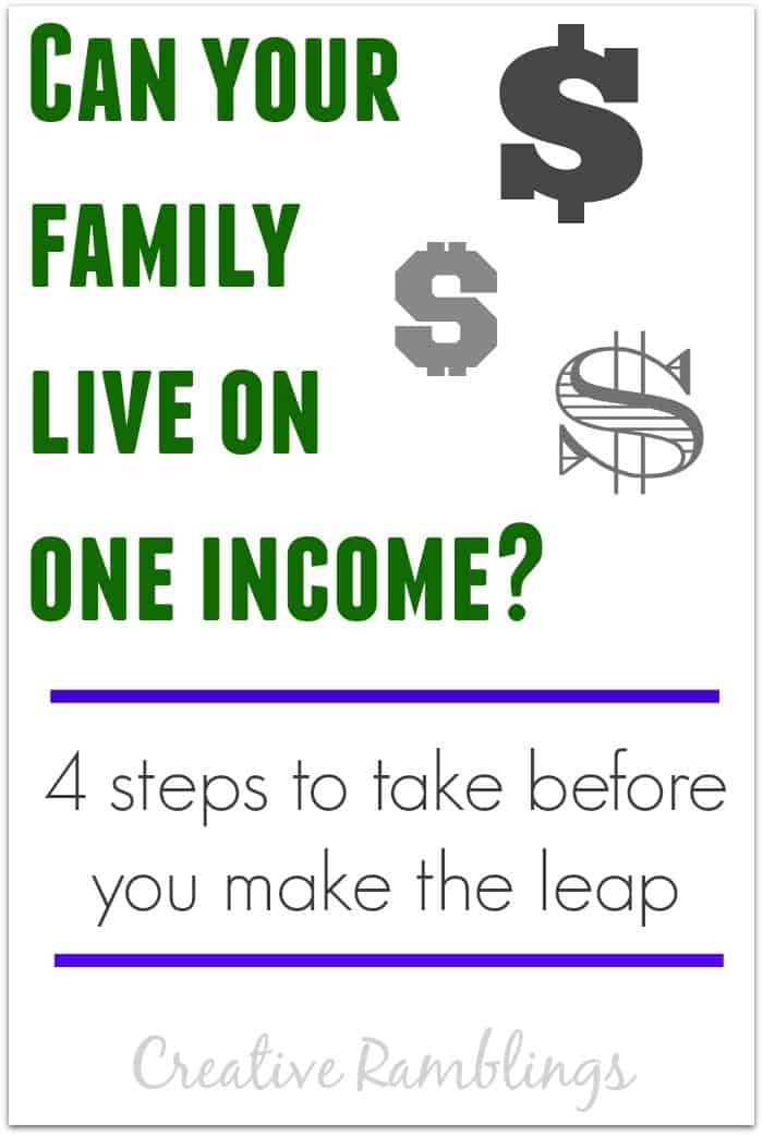 Can your family live on one income?