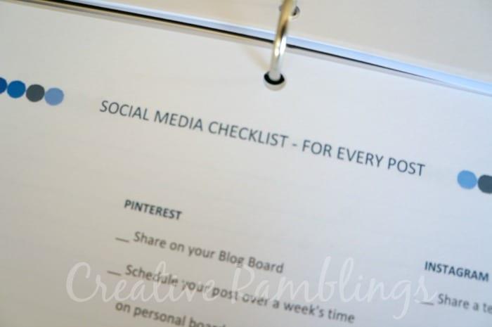 Social media blog post checklist