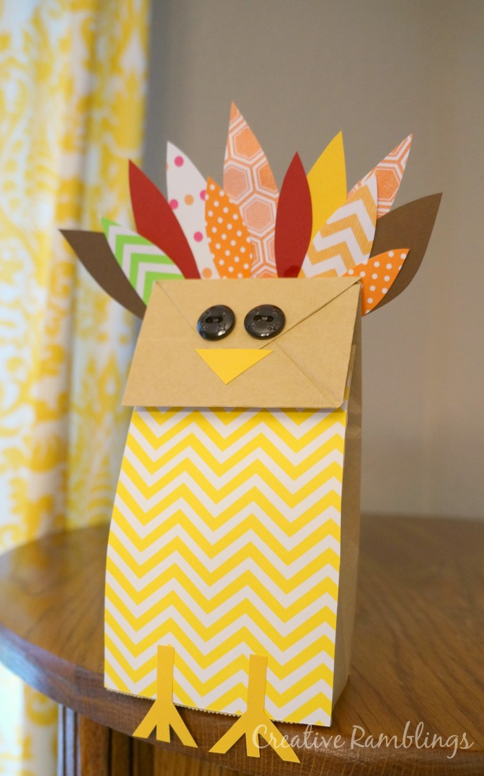 Paper Bag Turkey Thanksgiving Kids Craft
