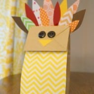 Paper Bag Turkey Fun Thanksgiving Kids Craft