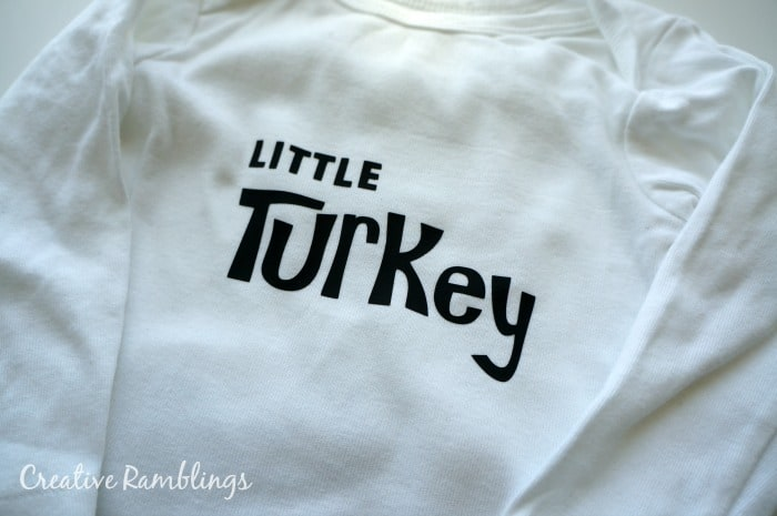 Little Turkey onesie with a #silhouette