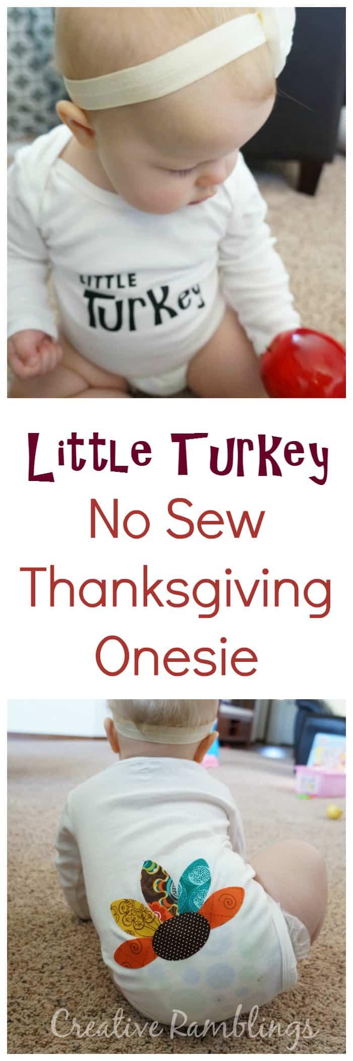 Little Turkey No Sew Thanksgiving Onesie Creative Ramblings