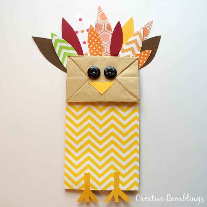 Paper Bag Turkey #thanksgiving #craft