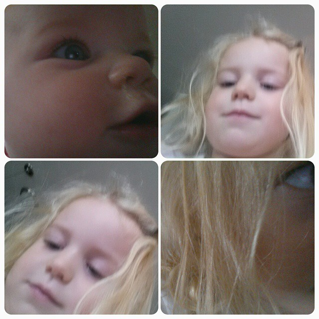 Going through pictures on my phone today I found these gems. Little Lady was kind enough to get her sister in on the #selfie action. @mommyshorts @munchkininc #munchkinselfies