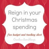 Setting and Sticking to a Christmas Budget