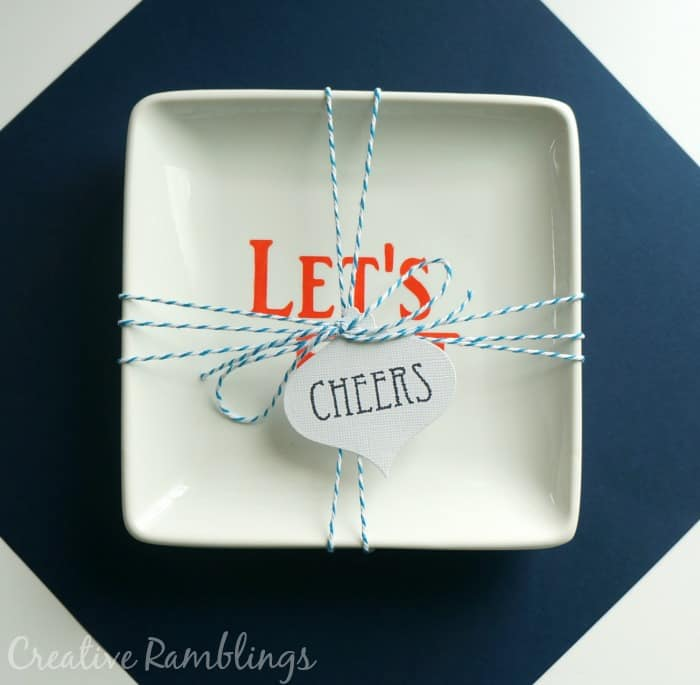 Set of 3 serving trays stenciled and packaged as a hostess gift