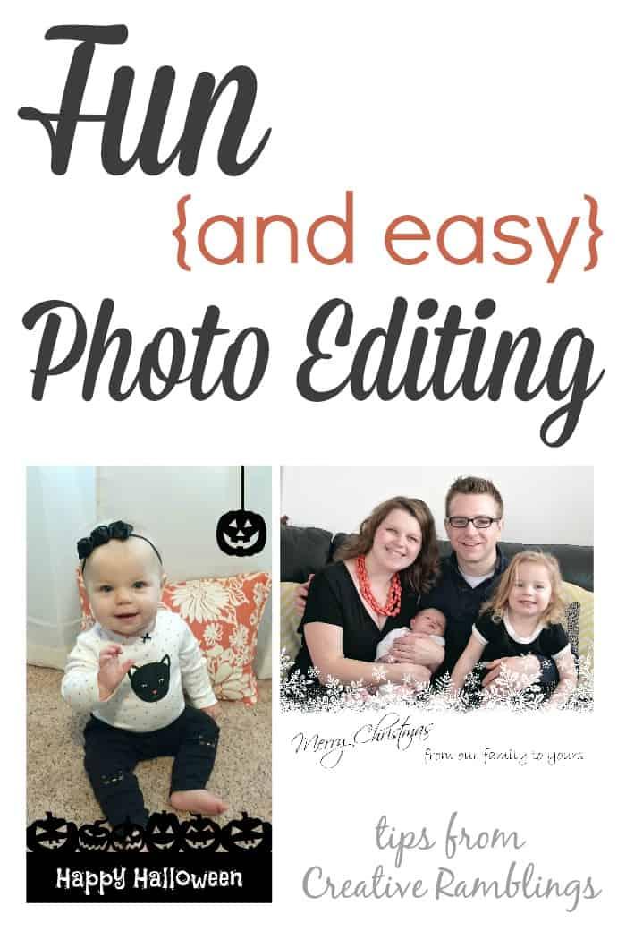 Thrifty Creative Living: Fun and Easy Photo Editing