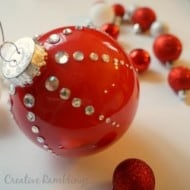Red Rhinestone Christmas Ornament