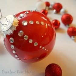 Thrifty Creative Living Red Rhinestone Christmas Ornament