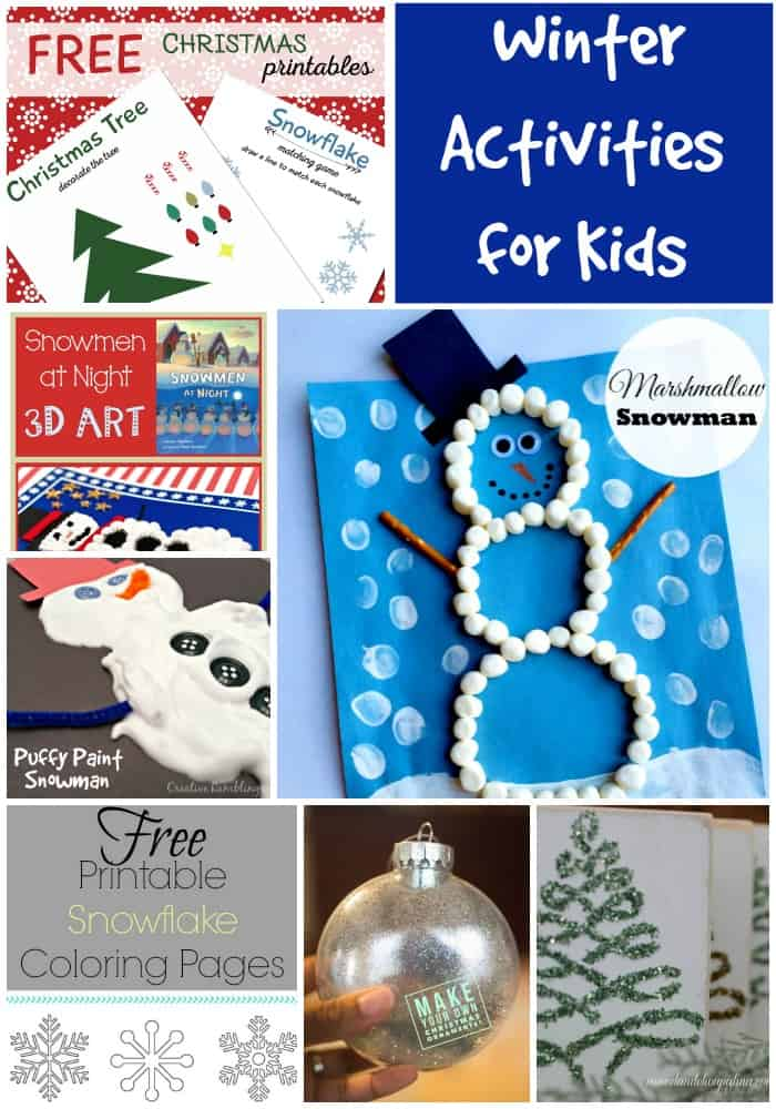 Free Winter Craft Ideas For Toddlers