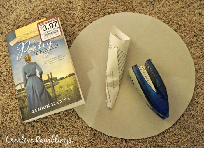 book page wreath supplies