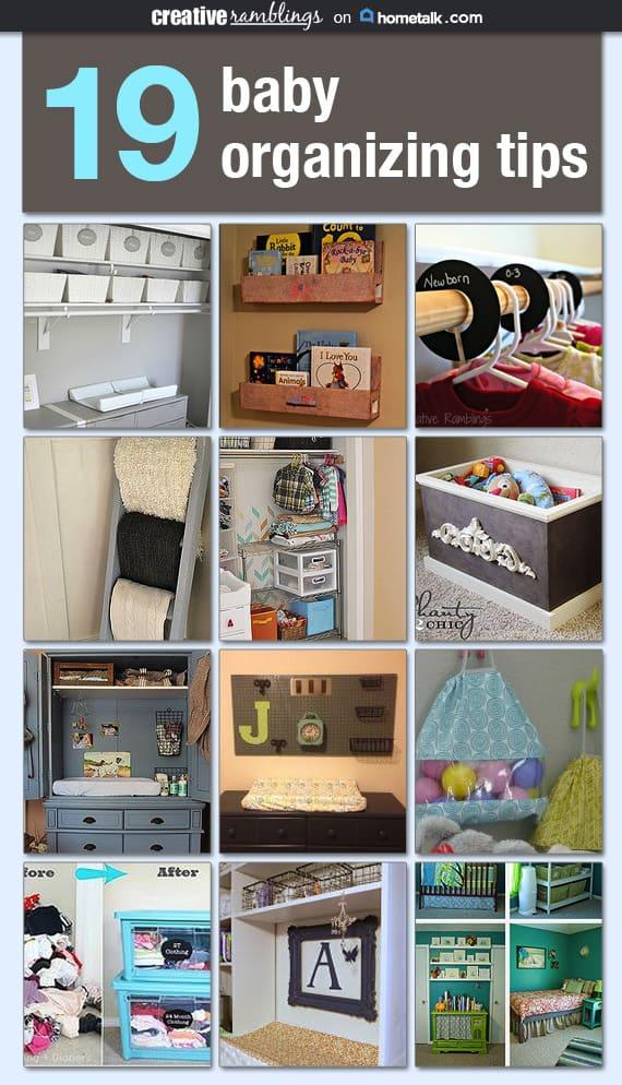 19 baby organizing tips