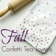 Fall Metallic Tea Towels