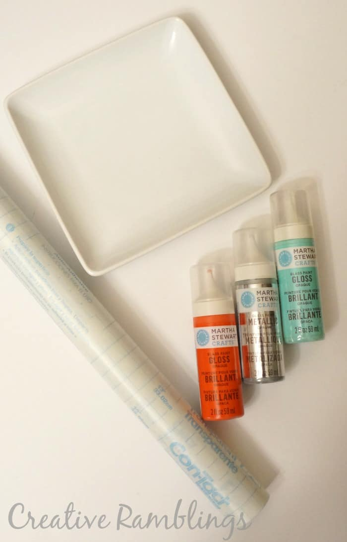 stenciled tray supplies