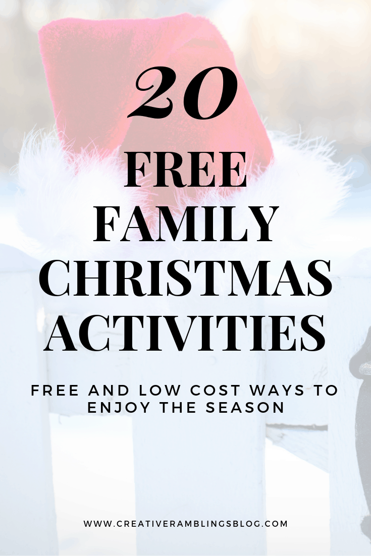 20 free family christmas activities