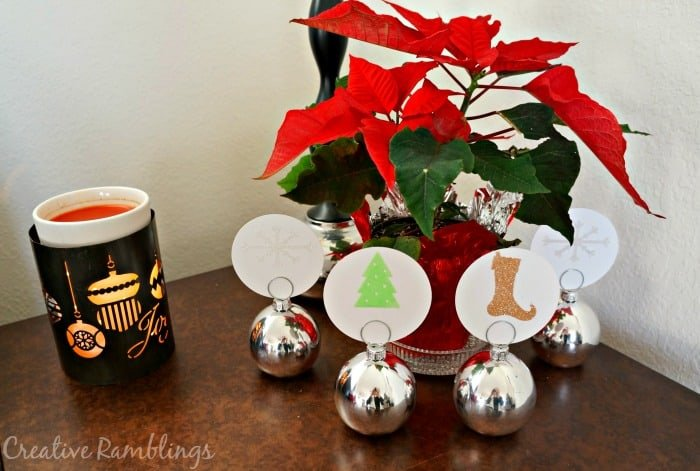 Christmas table with Silhouette Double Sided Adhesive cards