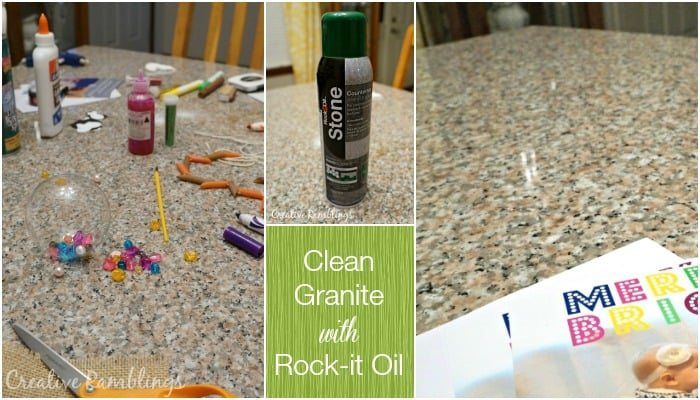 Clean Granite with Rock-it Oil Stone