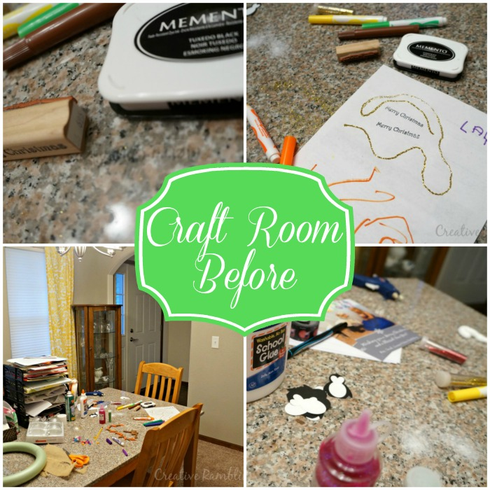 Clean and Organize a craft room