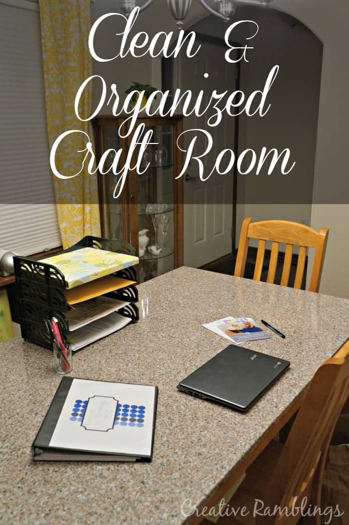 Clean and organized craft room