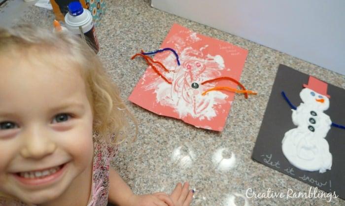 DIY puffy paint snowmen