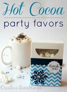 Hot Cocoa Party Favor