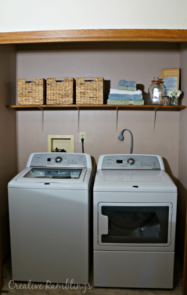 Laundry room one day siple makeover #MyMenardsDIY