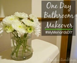 One day bathroom and laundry room makeover #MyMenardsDIY