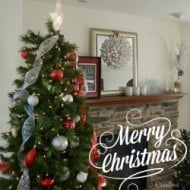 Christmas Tree and Mantle