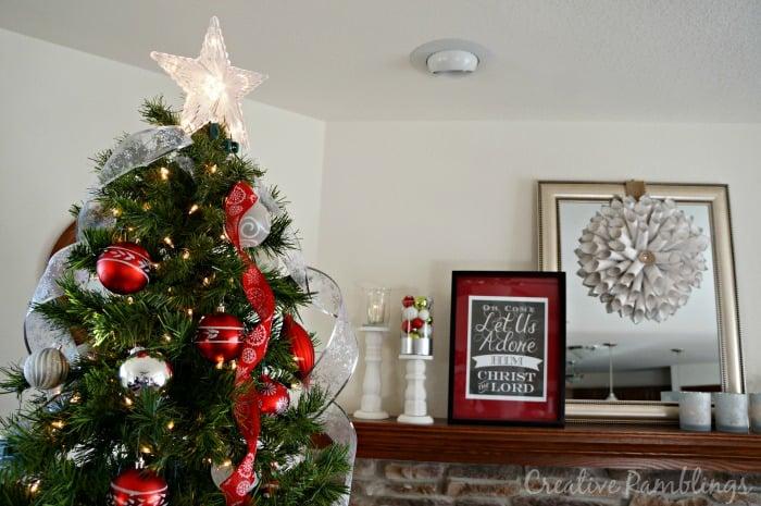 Christmas Tree And Mantle Creative Ramblings