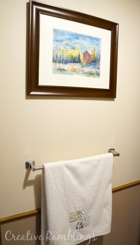 Simple projects Great Results bathroom makeover #MyMenardsDIY