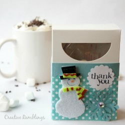 Snowman hot cocoa party favor