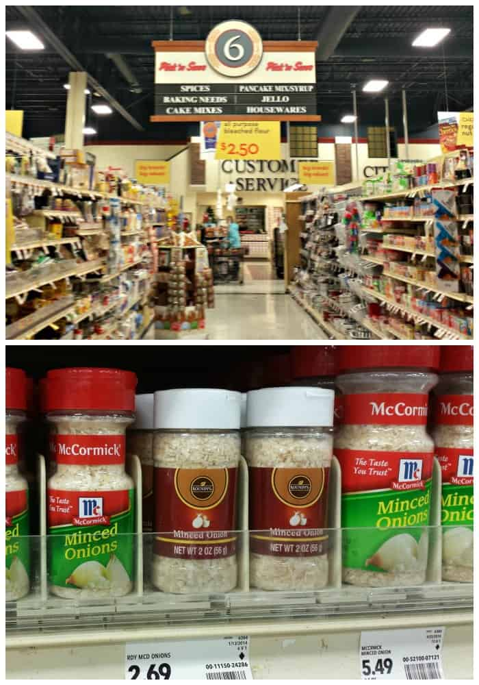 Spice aisle at Pick 'n Save